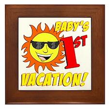 Babys First Vacation Shirt Framed Tile