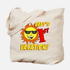 Babys First Vacation Shirt Tote Bag