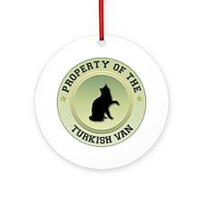 Turkish Van Property Ornament (Round)