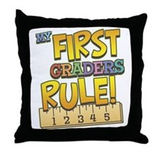 First Graders Rule Throw Pillow