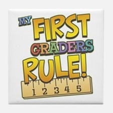First Graders Rule Tile Coaster