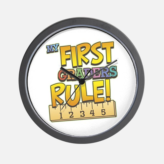 First Graders Rule Wall Clock