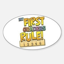 First Graders Rule Oval Decal