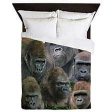 gorilla tee Queen Duvet