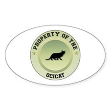 Ocicat Property Oval Decal