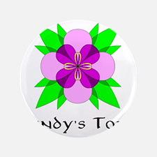 """CINDYS TOTE FLEUR DE LOOPS 3.5"""" Button"""
