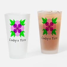 CINDYS TOTE FLEUR DE LOOPS Drinking Glass