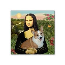 "Tile-Mona-Lucy - REV Square Sticker 3"" x 3"""