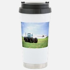 Texas Crop Duster With Tractor Stainless Steel Tra