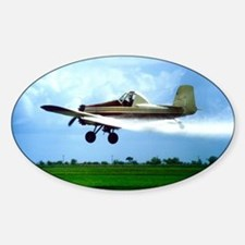 Texas Crop Duster Sticker (Oval)