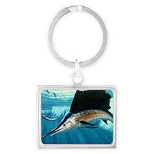 sailfish1024a Landscape Keychain