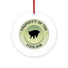 Pixie-Bob Property Ornament (Round)