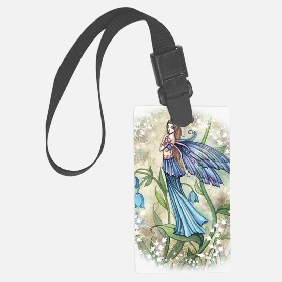 Blue Bell transparent Large Luggage Tag