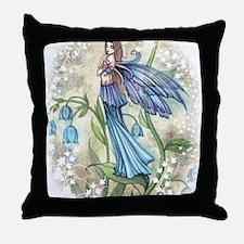 Blue Bell transparent Throw Pillow