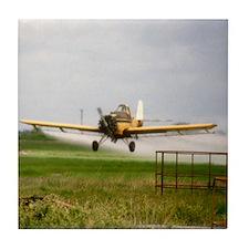 Texas Crop Duster Tile Coaster