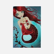 Ruby mermaid Rectangle Magnet