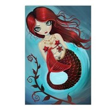 Ruby mermaid Postcards (Package of 8)