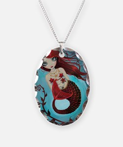 Ruby mermaid Necklace