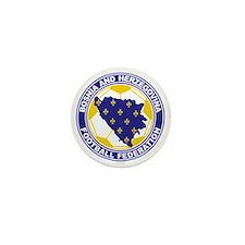 Bosnian Soccer crest Mini Button