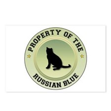 Russian Blue Property Postcards (Package of 8)