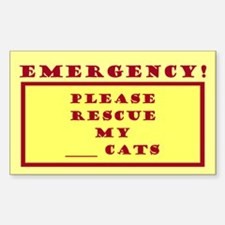 Rescue My Cats - Emergency Door/Window Decal