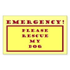 Rescue My Dog - Emergency Door/Window Decal
