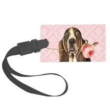 basset rose-clutch Luggage Tag