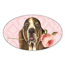basset rose-clutch Decal
