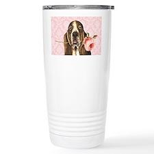 basset rose-clutch Travel Mug