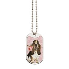 basset rose-oval key Dog Tags