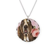 basset rose-oval charm Necklace