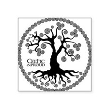 "CP tree of life blk 3 Square Sticker 3"" x 3"""
