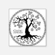 "CP tree of life blk 3 Square Sticker 3"" x 3"""