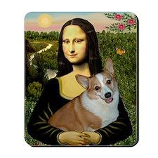 Poster-small-Mona-Corgi L Mousepad