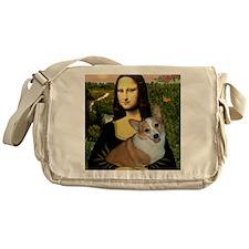 Poster-small-Mona-Corgi L Messenger Bag