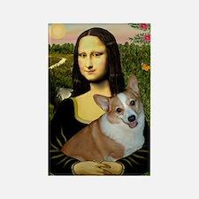 Poster-small-Mona-Corgi L Rectangle Magnet