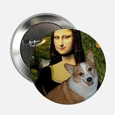 """Poster-small-Mona-Corgi L 2.25"""" Button"""
