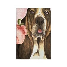 basset-3case Rectangle Magnet