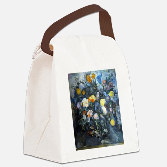 Flowers - Paul Cezanne - c1902 Canvas Lunch Bag