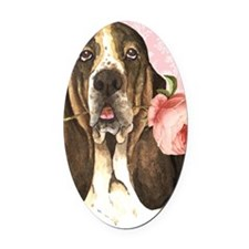 basset-iPad Oval Car Magnet