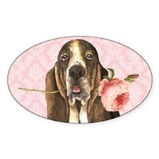 basset rose-beach Decal