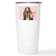 basset rose-beach Travel Mug