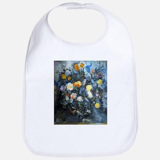 Flowers - Paul Cezanne - c1902 Cotton Baby Bib