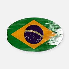 Braziltex3-paint style-paint style Oval Car Magnet