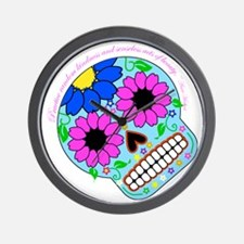 Words of Wisdom-Beautiful Skull Wall Clock