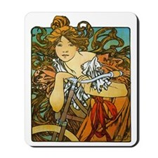 Art Nouveau Bicycle Mousepad