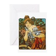 Art Nouveau Bicycle Greeting Card