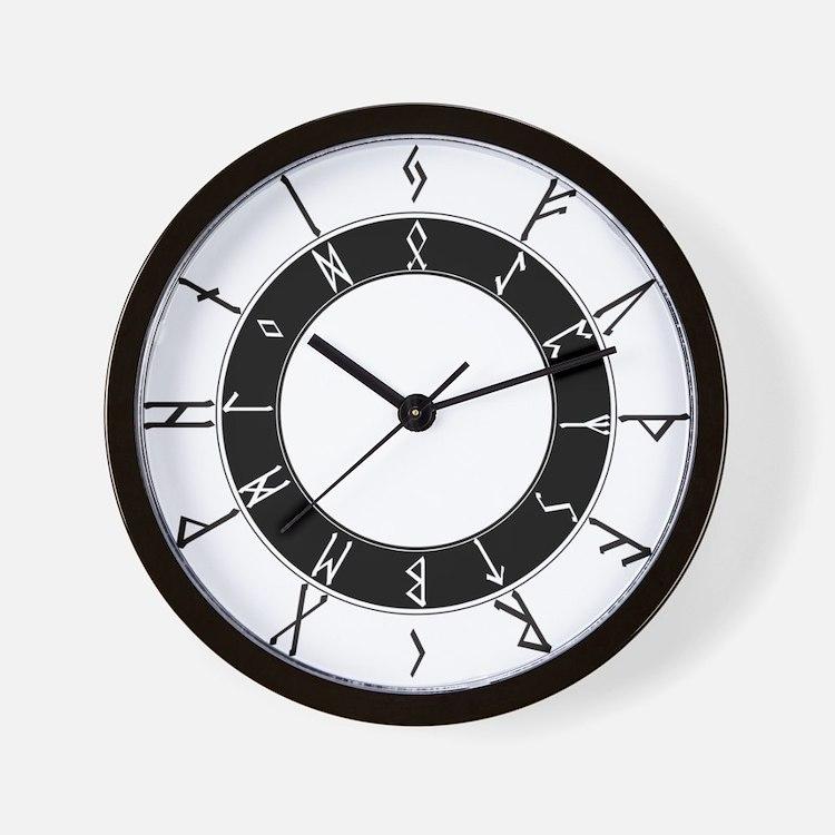 Futhark24hrClockModern Wall Clock