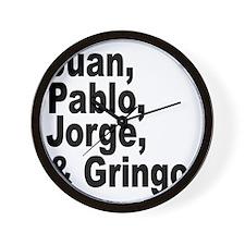 Juan pablo jorge gringo Wall Clock