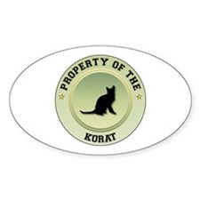 Korat Property Oval Decal